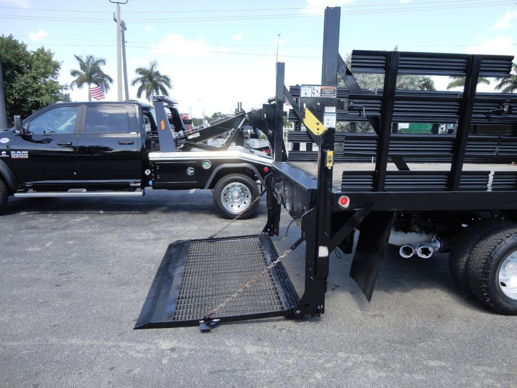 2013 Ford F350 4X4.12FT FLATBED STAKE BED WITH LIFTGATE..STAKE TRUCK. - 18965309 - 17