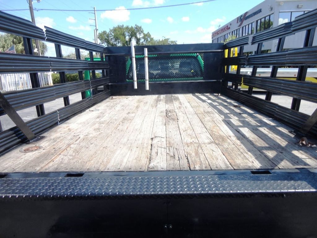 2013 Ford F350 4X4.12FT FLATBED STAKE BED WITH LIFTGATE..STAKE TRUCK. - 18965309 - 19