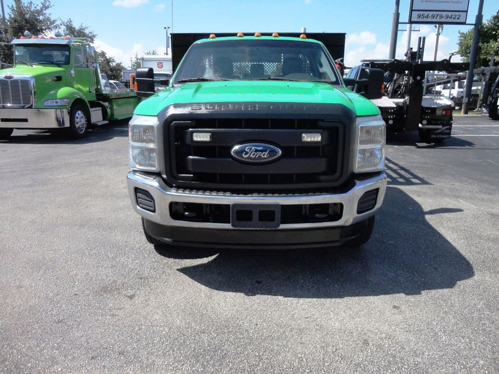2013 Ford F350 4X4.12FT FLATBED STAKE BED WITH LIFTGATE..STAKE TRUCK. - 18965309 - 2