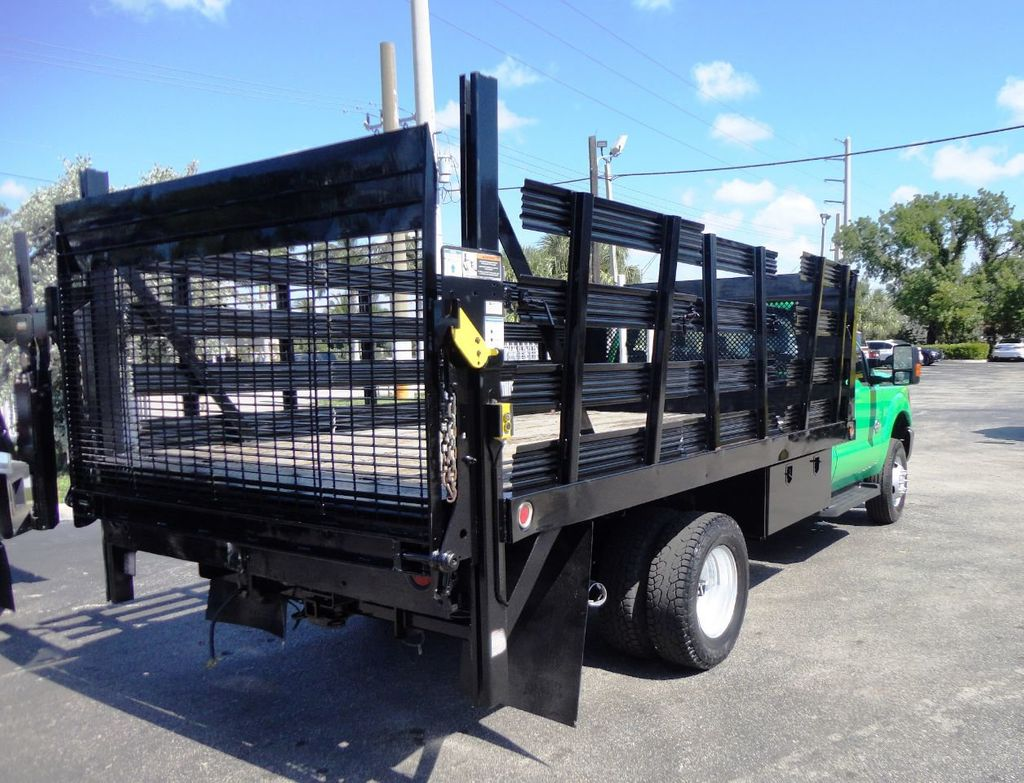 2013 Ford F350 4X4.12FT FLATBED STAKE BED WITH LIFTGATE..STAKE TRUCK. - 18965309 - 7