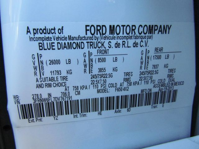 2013 Ford F650 Flatbed - 15424303 - 28
