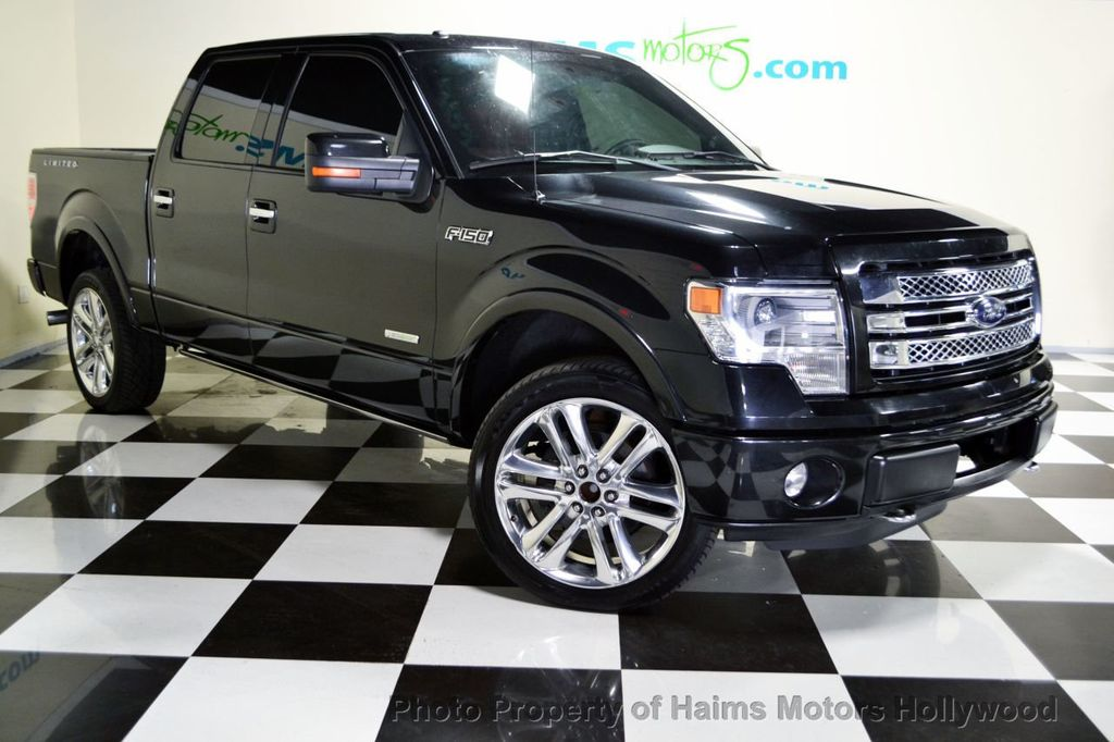 "Ford Dealership Fort Lauderdale >> 2013 Used Ford F-150 4WD SuperCrew 145"" Limited at Haims Motors Serving Fort Lauderdale ..."