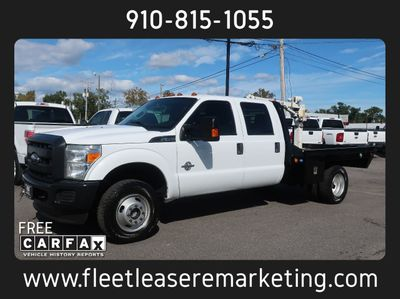 2013 Ford Super Duty F-350 4WD DRW Flatbed Diesel with Crane