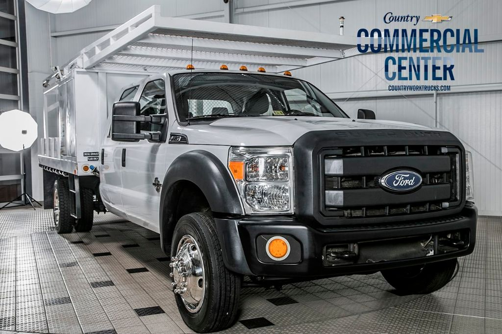 2013 Ford Super Duty F-550 DRW F550 XL CREW 4X4 * 6.7 POWERSTROKE * CONCRETE BODY  - 16631058 - 0
