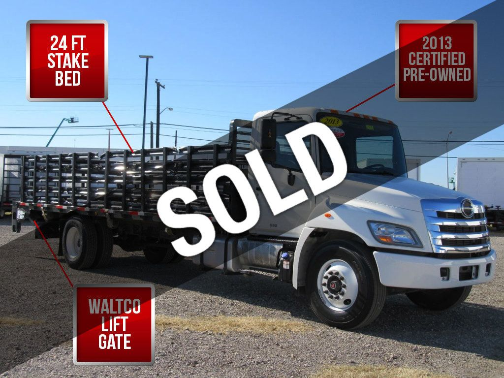 2013 HINO 268 (24ft Stake Bed with Lift Gate) - 18332478 - 0