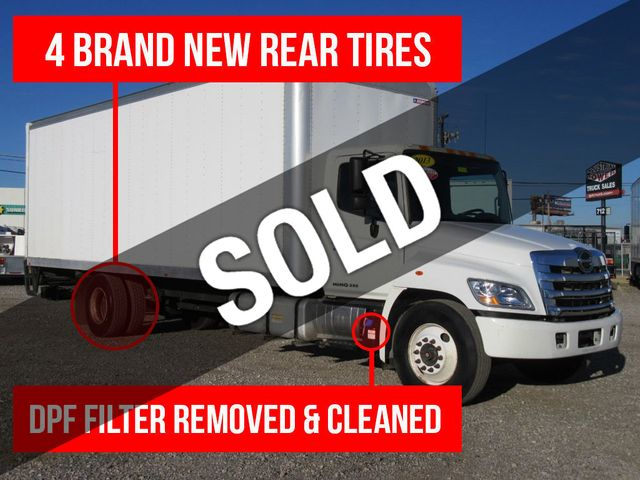 2013 Used Hino 268 26ft Box Truck With Lift Gate At