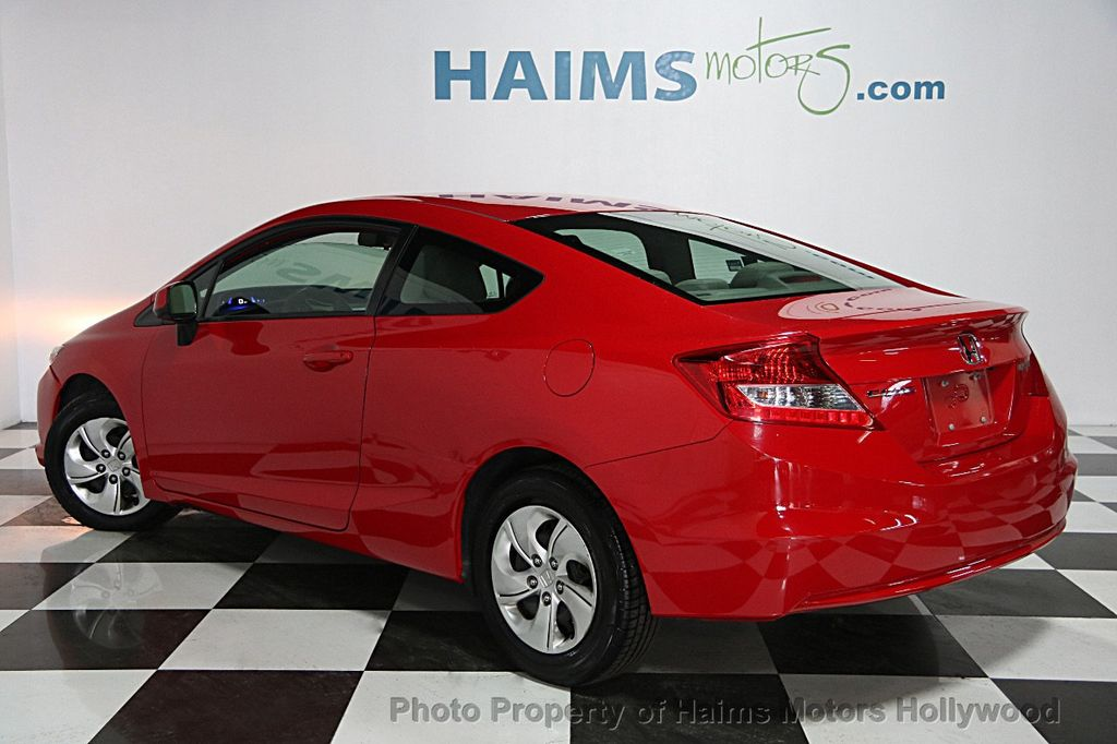 2013 used honda civic coupe 2dr automatic lx at haims motors serving fort lauderdale hollywood. Black Bedroom Furniture Sets. Home Design Ideas