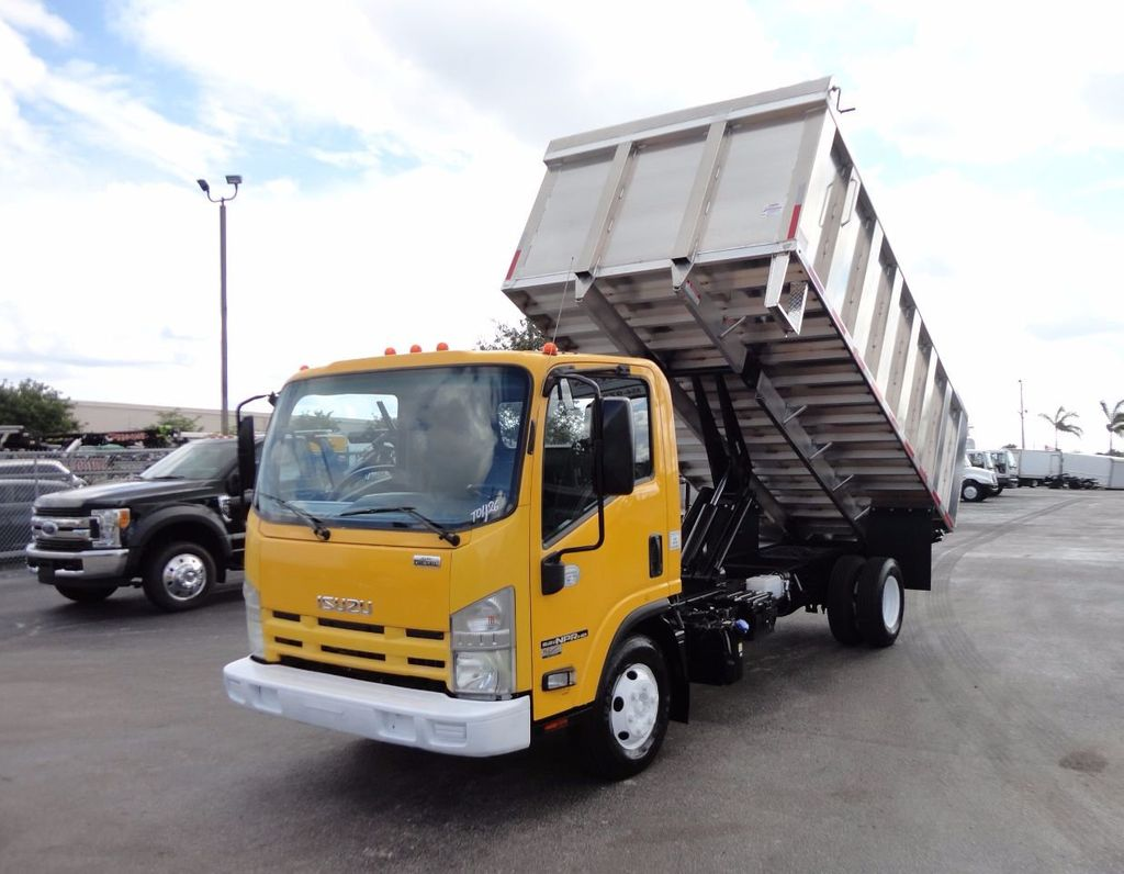 2013 Isuzu NPR HD *NEW*ADVANCED FABRICATORS 14FT ALUMINUM TRASH DUMP.. - 17081599 - 0