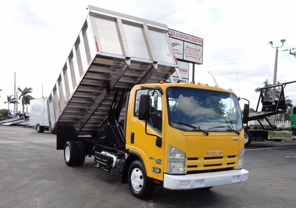 2013 Isuzu NPR HD *NEW*ADVANCED FABRICATORS 14FT ALUMINUM TRASH DUMP.. - 17081599 - 1