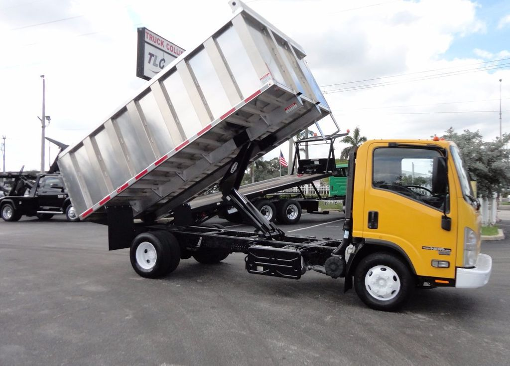 2013 Isuzu NPR HD *NEW*ADVANCED FABRICATORS 14FT ALUMINUM TRASH DUMP.. - 17081599 - 2