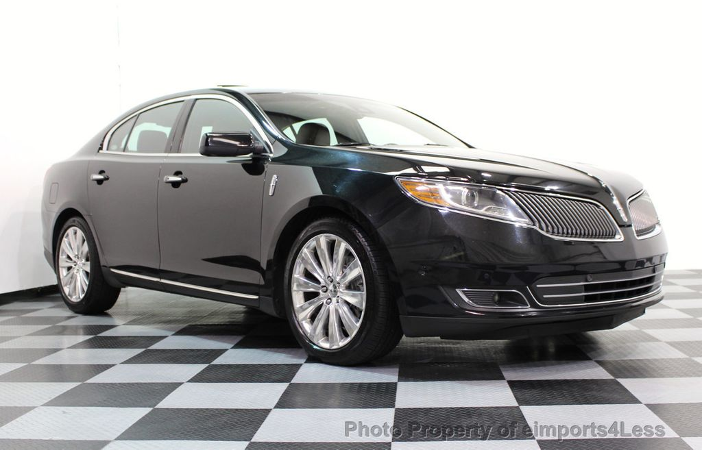 2013 Lincoln MKS CERTIFIED MKS AWD PANO adapt cruise BLIND SPOT nav - 16818420 - 14