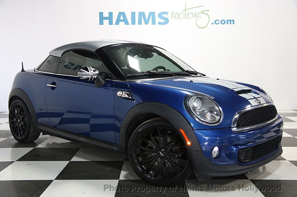 2013 used mini cooper coupe 2dr s at haims motors hollywood serving fort lauderdale hollywood. Black Bedroom Furniture Sets. Home Design Ideas