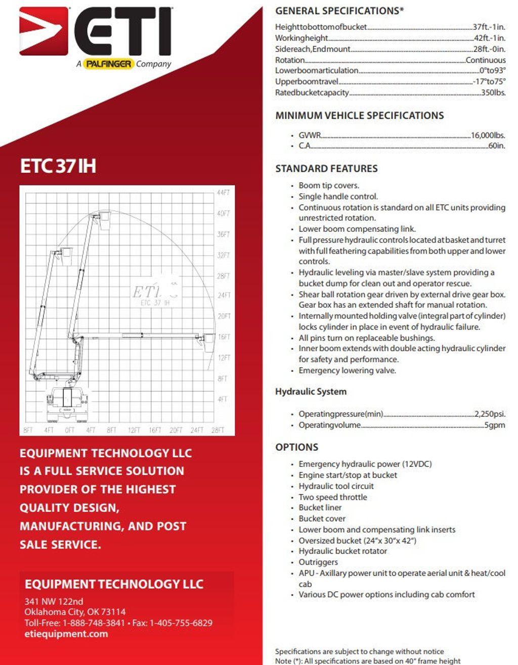 2013 Ram 5500 42FT BUCKET TRUCK..ETI..ETC37IH - 18139432 - 46