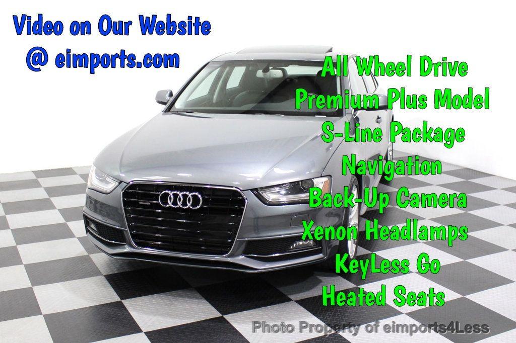 2014 Audi A4 CERTIFIED A4 2.0t Quattro S-Line Premium Plus AWD CAM NAVI - 18130106 - 0
