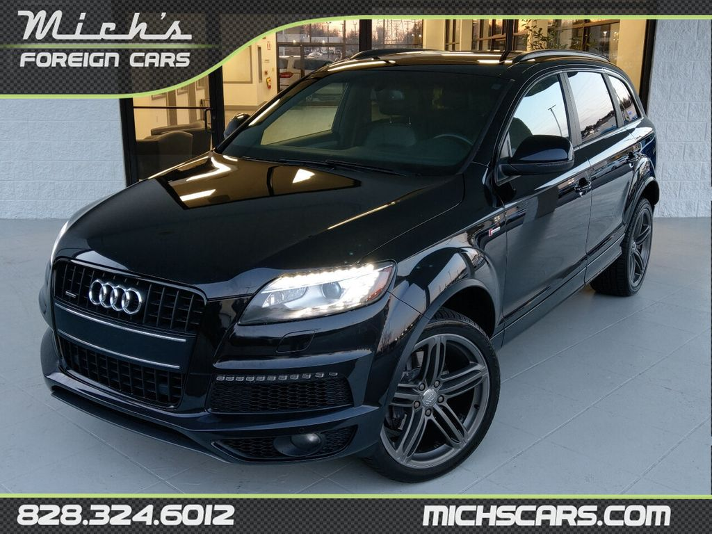 2014 Used Audi Q7 S Line Prestige Third Row Pano Roof Gorgeous At Michs Foreign Cars Serving Hickory Nc Iid 20493240