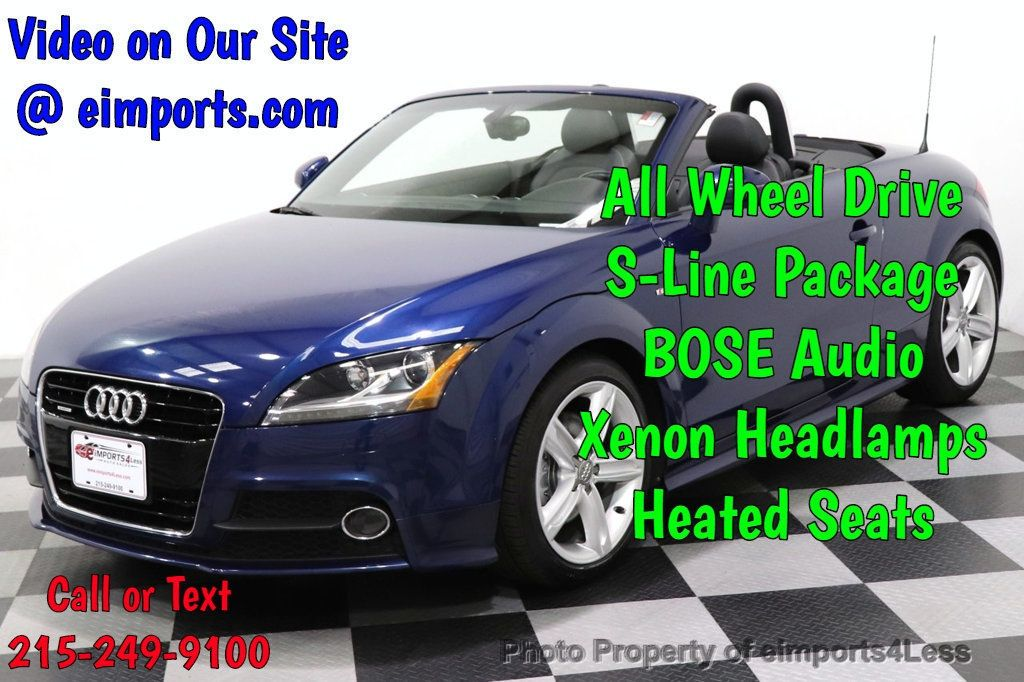 2014 Audi TT Roadster CERTIFIED TT 2.0T Quattro AWD S-LINE BOSE HEATED SEATS - 18616874 - 0