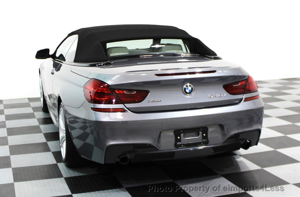 2014 BMW 6 Series CERTIFIED 640i xDRIVE M SPORT CABRIO EXECUTIVE - 16007893 - 31