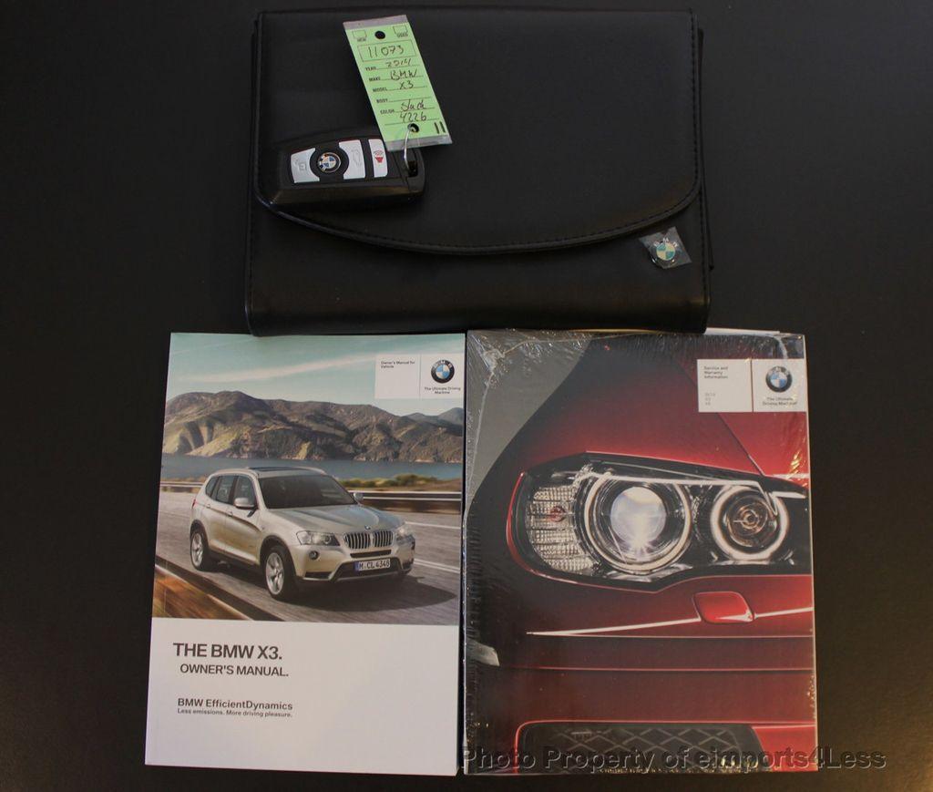 2014 Used BMW X3 CERTIFIED X3 XDRIVE28i AWD SUV NAVIGATION