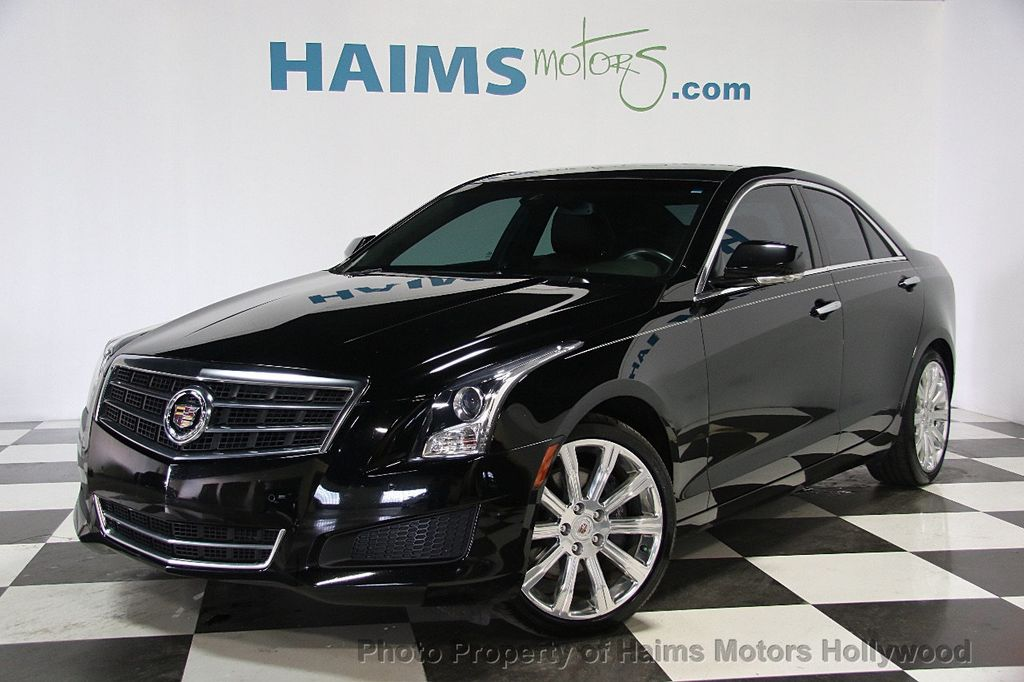 2014 used cadillac ats 4dr sedan 2 0l luxury rwd at haims motors serving fort lauderdale. Black Bedroom Furniture Sets. Home Design Ideas