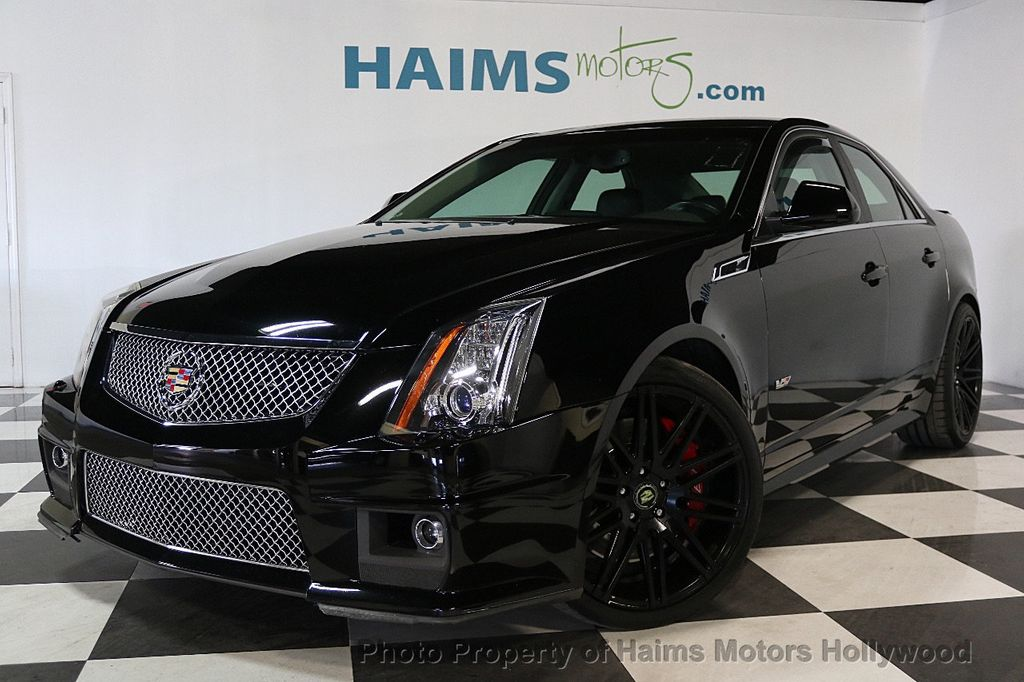 2014 used cadillac cts v sedan 4dr sedan at haims motors serving fort lauderdale hollywood. Black Bedroom Furniture Sets. Home Design Ideas