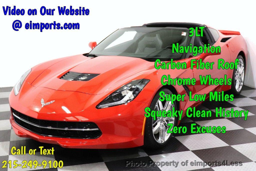 2014 Chevrolet Corvette Stingray CERTIFIED CORVETTE STINGRAY 3LT NAV CAM - 18587085 - 0