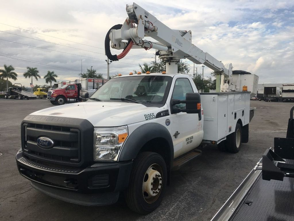 2014 Ford F550 ALTEC AT37-G BUCKET TRUCK .BOOM TRUCK - 18332214 - 0