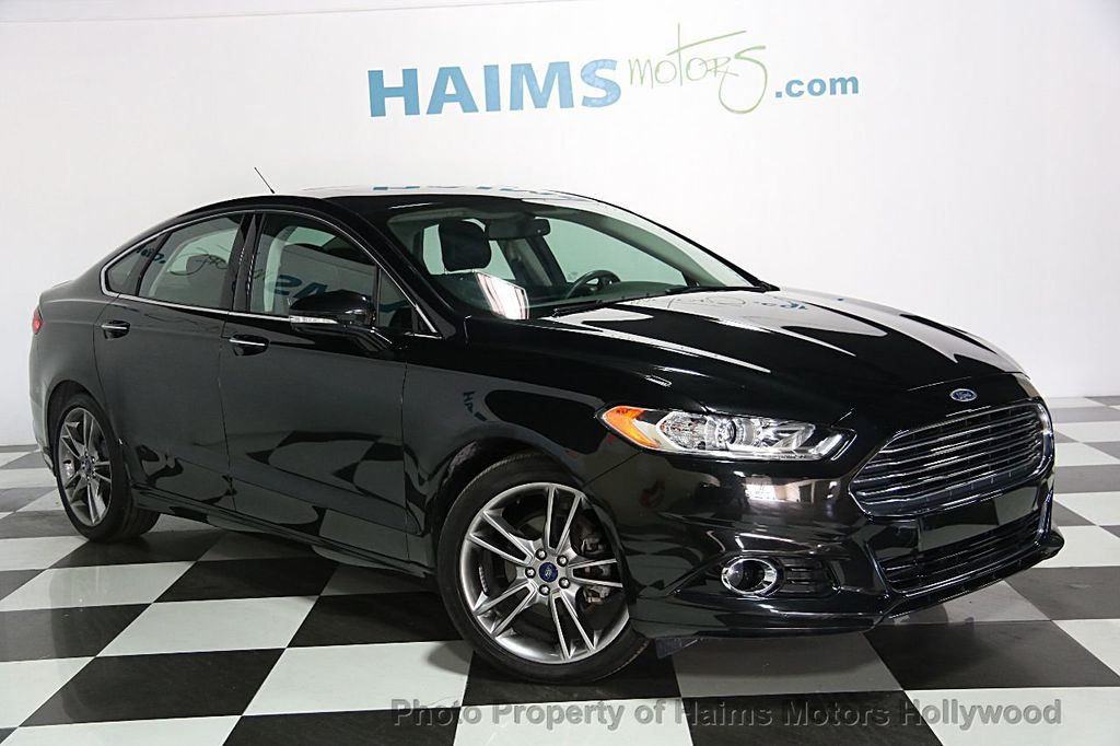 2014 used ford fusion 4dr sedan titanium fwd at haims motors serving fort lauderdale hollywood. Black Bedroom Furniture Sets. Home Design Ideas