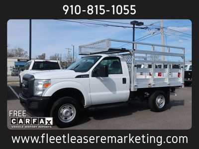 2014 Ford Super Duty F-250 9 Foot Flatbed with Ladder Rack