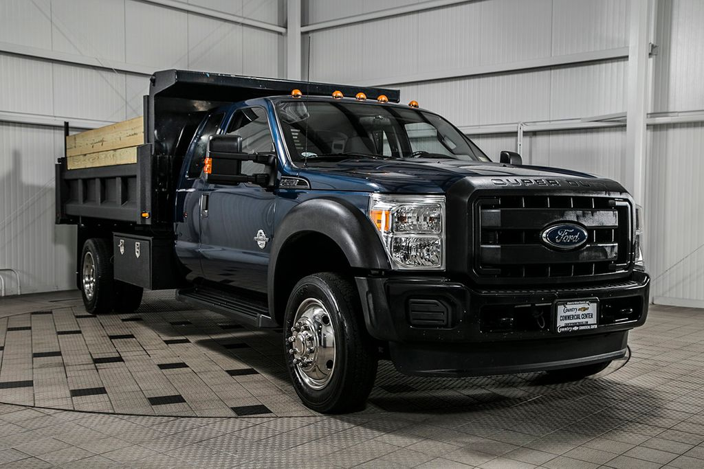 2014 Ford Super Duty F-550 DRW F550 SUPERCAB 4X4 * 6.7 POWERSTROKE * 11' CONTRACTOR DUMP - 17301033 - 1