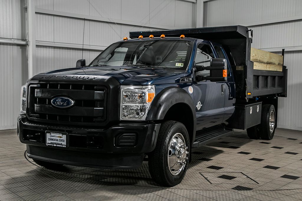 2014 Ford Super Duty F-550 DRW F550 SUPERCAB 4X4 * 6.7 POWERSTROKE * 11' CONTRACTOR DUMP - 17301033 - 3