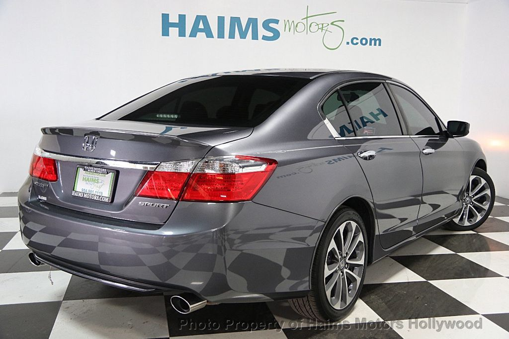2014 used honda accord sedan 4dr i4 cvt sport at haims motors hollywood serving fort lauderdale. Black Bedroom Furniture Sets. Home Design Ideas