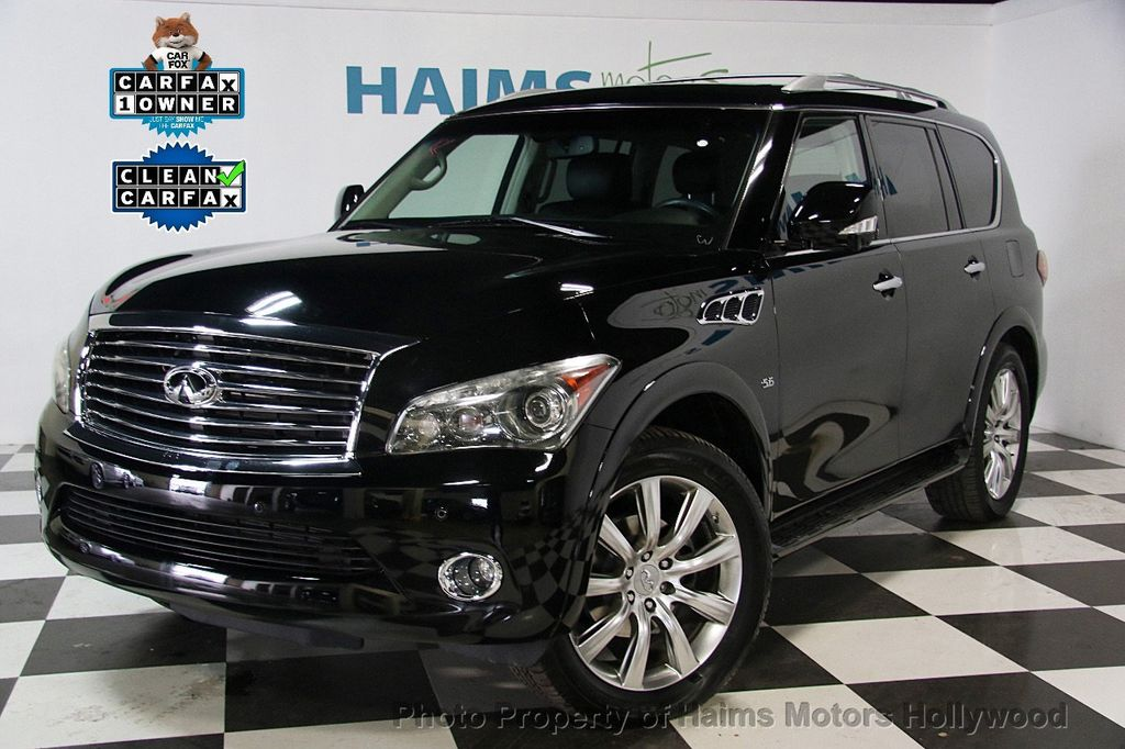 2014 used infiniti qx80 4wd 4dr at haims motors serving fort lauderdale hollywood miami fl. Black Bedroom Furniture Sets. Home Design Ideas