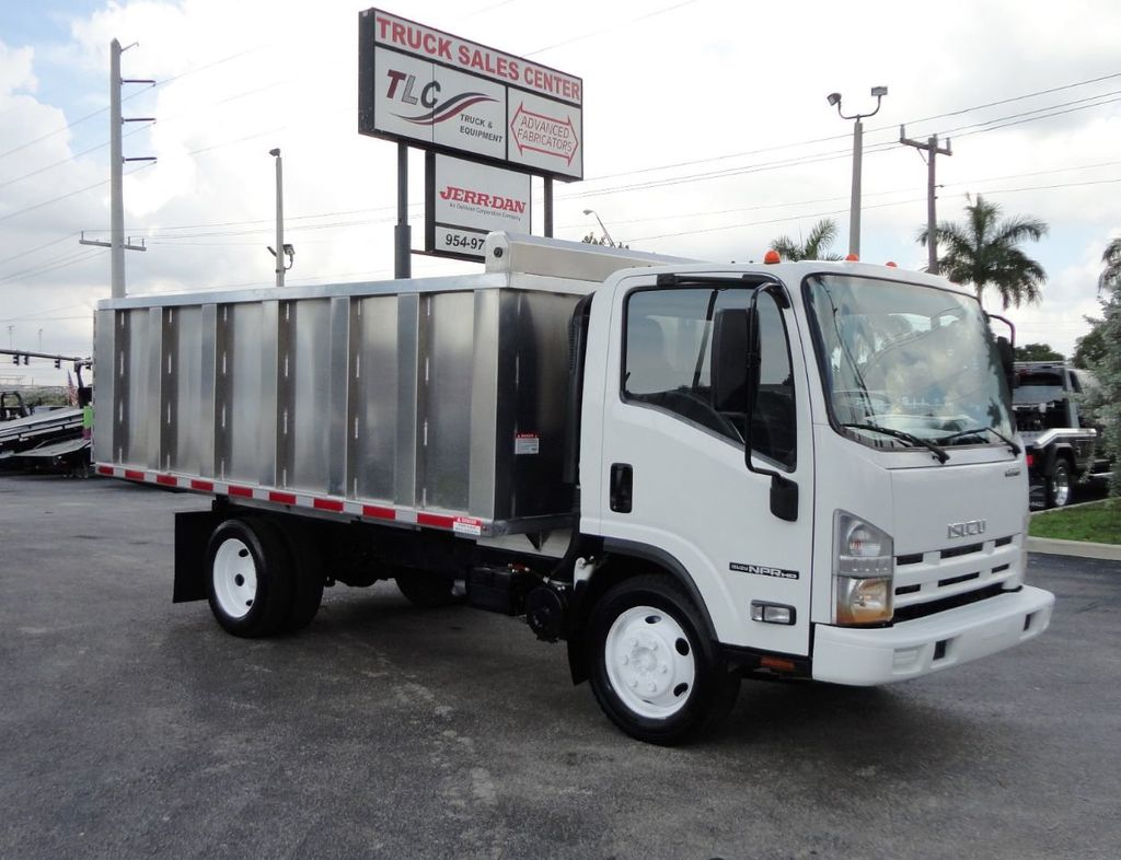 2014 Isuzu NPR HD 14FT ALUM TRASH DUMP TRUCK...NEW AD FAB DUMP BODY. - 19105430 - 0
