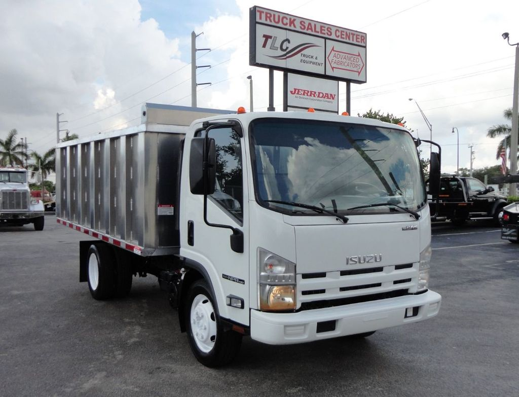 2014 Isuzu NPR HD 14FT ALUM TRASH DUMP TRUCK...NEW AD FAB DUMP BODY. - 19105430 - 1