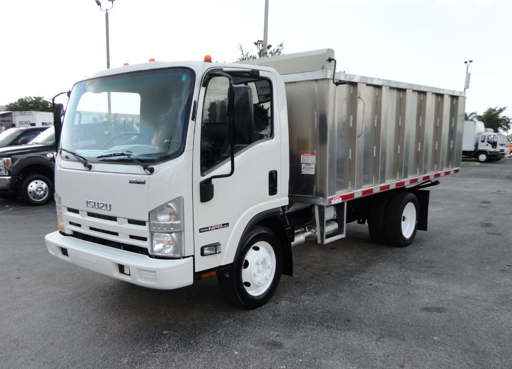 2014 Isuzu NPR HD 14FT ALUM TRASH DUMP TRUCK...NEW AD FAB DUMP BODY. - 19105430 - 3