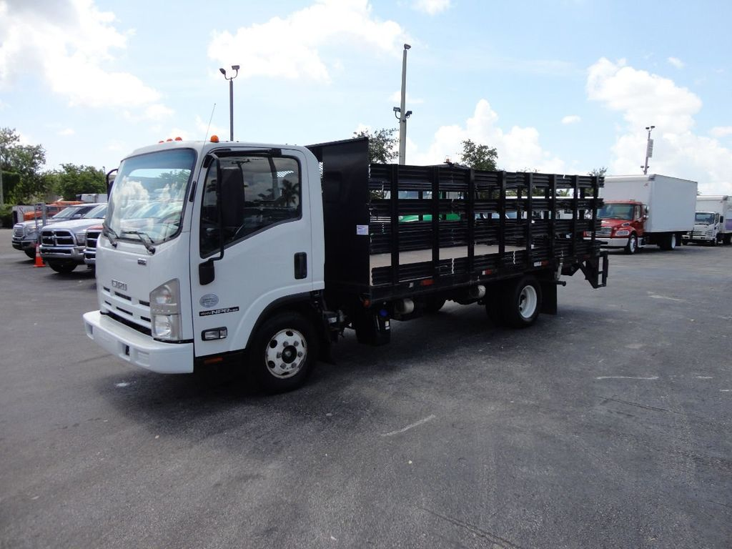 2014 Isuzu NPR HD 16FT FLATBED STAKE BED WITH LIFTGATE..STAKE TRUCK. - 17742657 - 0