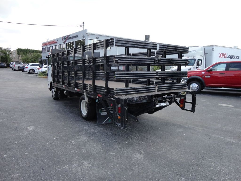 2014 Isuzu NPR HD 16FT FLATBED STAKE BED WITH LIFTGATE..STAKE TRUCK. - 17742657 - 9