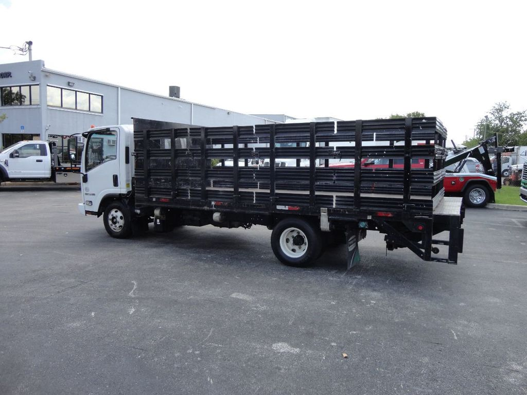 2014 Isuzu NPR HD 16FT FLATBED STAKE BED WITH LIFTGATE..STAKE TRUCK. - 17742657 - 10