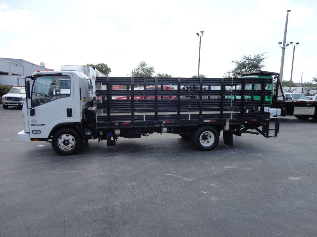 2014 Isuzu NPR HD 16FT FLATBED STAKE BED WITH LIFTGATE..STAKE TRUCK. - 17742657 - 11