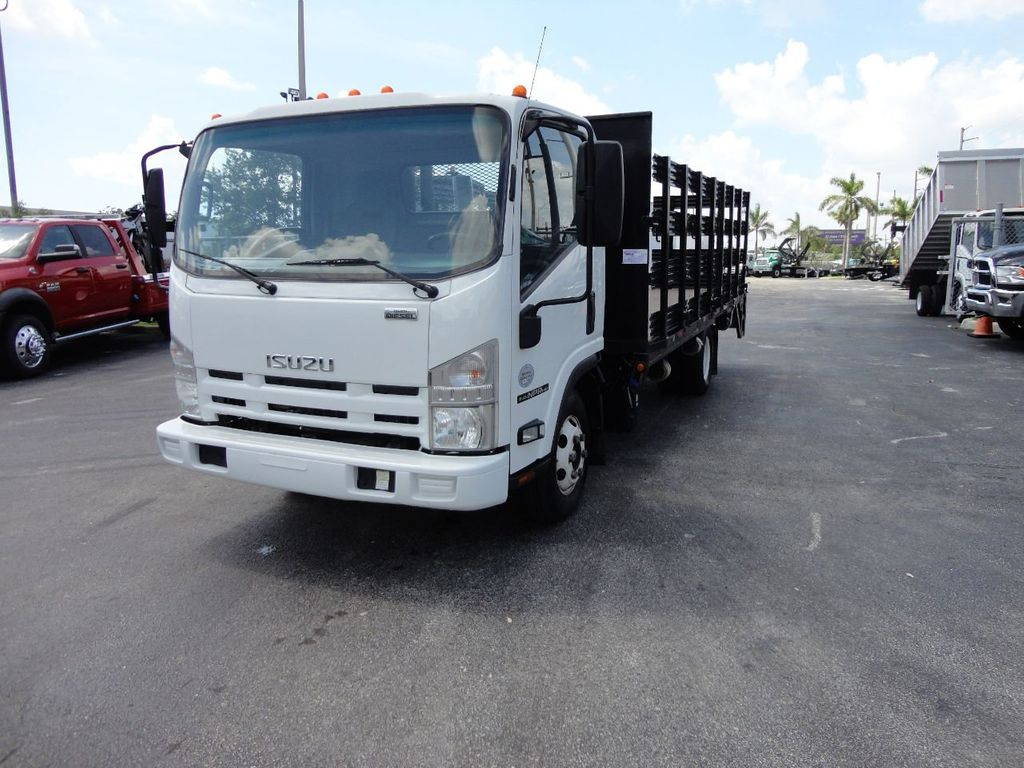 2014 Isuzu NPR HD 16FT FLATBED STAKE BED WITH LIFTGATE..STAKE TRUCK. - 17742657 - 1