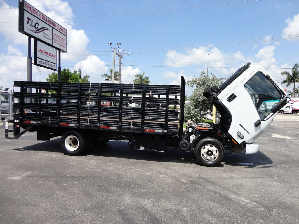2014 Isuzu NPR HD 16FT FLATBED STAKE BED WITH LIFTGATE..STAKE TRUCK. - 17742657 - 23