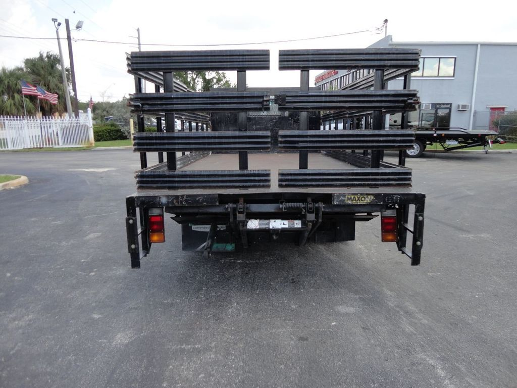 2014 Isuzu NPR HD 16FT FLATBED STAKE BED WITH LIFTGATE..STAKE TRUCK. - 17742657 - 8