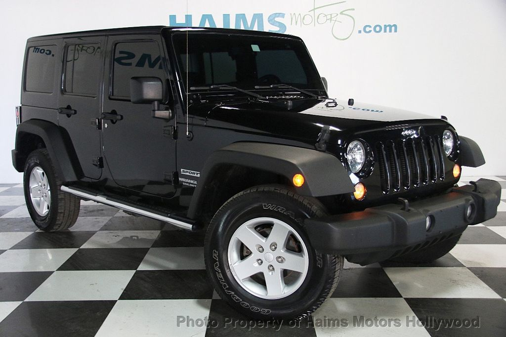 Jeep Rubicon Black >> 2014 Used Jeep Wrangler Unlimited Sport at Haims Motors Serving Fort Lauderdale, Hollywood ...