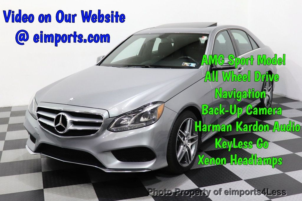 2014 Mercedes-Benz E-Class CERTIFIED E350 4Matic AMG Sport AWD CAMERA NAVI - 18398378 - 0