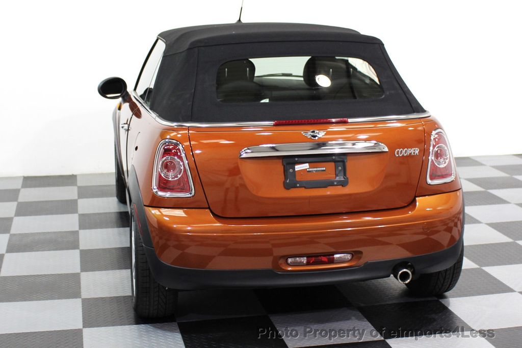 2014 MINI Cooper Convertible CERTIFIED COOPER CABRIOLET 6 SPEED  - 16845294 - 27