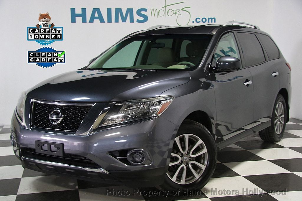 2014 used nissan pathfinder 4wd 4dr sv at haims motors hollywood serving fort lauderdale. Black Bedroom Furniture Sets. Home Design Ideas