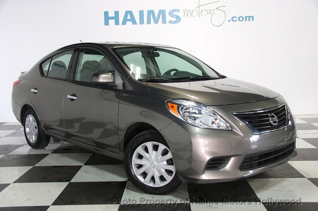 2014 used nissan versa 4dr sedan cvt 1 6 sv at haims motors hollywood serving fort lauderdale. Black Bedroom Furniture Sets. Home Design Ideas