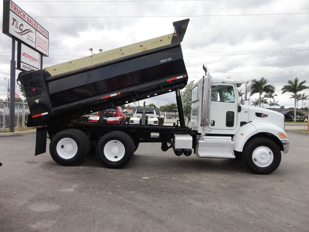 2014 Used Peterbilt 348 15FT DUMP TRUCK  TANDEM AXLE at TLC