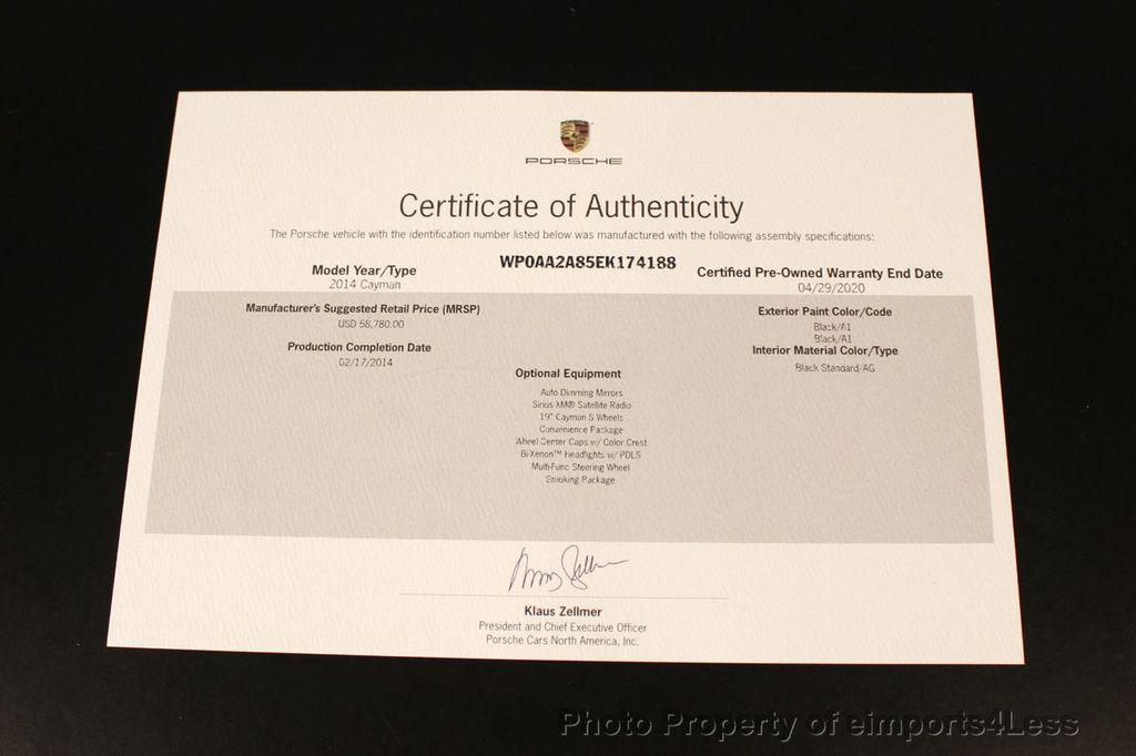 2014 Porsche Cayman CERTIFIED CAYMAN 6 SPEED - 18130108 - 48