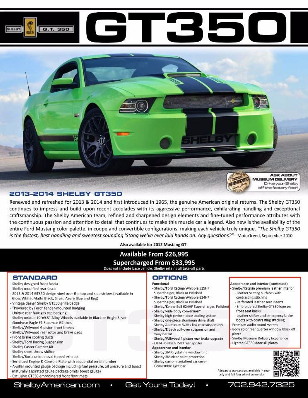 2014 Used Shelby GT350 For Sale at WeBe Autos Serving Long Island ...